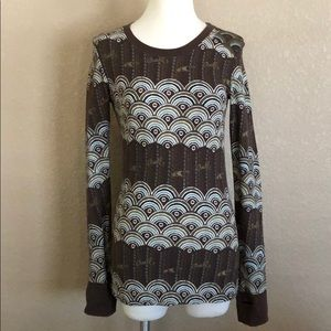 O'Neill Brown Long Sleeve Thermal with Thumbholes